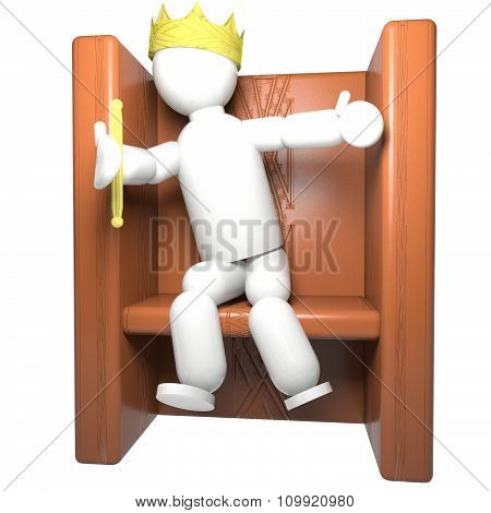 King Puppet Over Throne