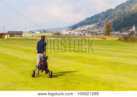 Walking On Golf Course