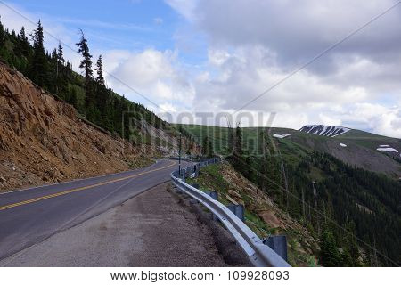 Rocky Mountain Road Along Independence Pass