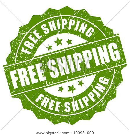 Free shipping grunge label