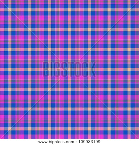 Colorful Seamless Tartan Pattern In Eyecatching Colors
