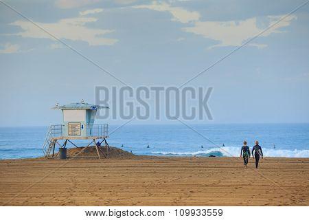 The Huntington Beach Pier At Sunrise