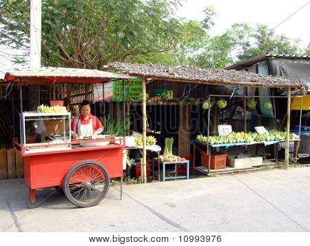 Roadside stall in Thailand.