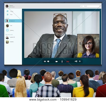 Video Call Conference Chatting Communication Concept