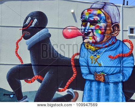 Mural clown