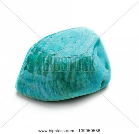 Amazonite isolated on white background