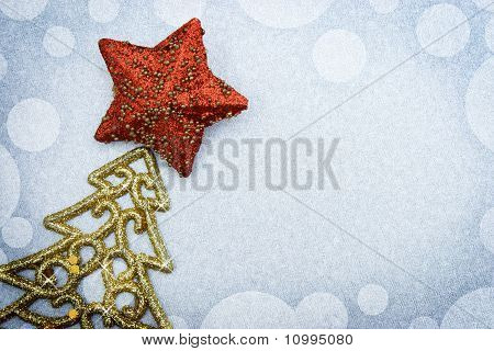 Christmas fir tree with paper