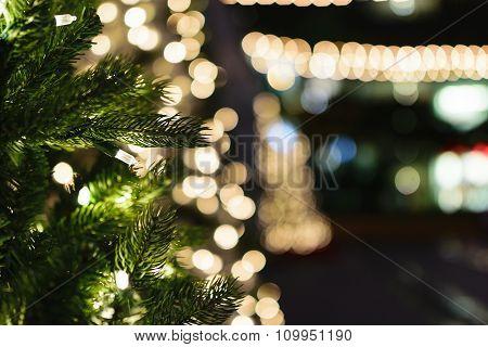 White Lit Christmas Tree