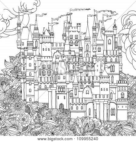 ornamental castle from a fairy tale