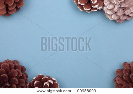 winter cones background