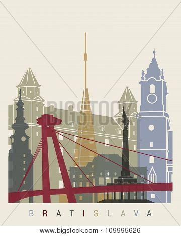 Bratislava Skyline Poster