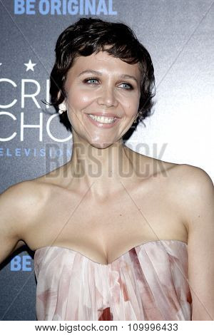 LOS ANGELES - MAY 31:  Maggie Gyllenhaal at the 5th Annual Critics' Choice Television Awards at the Beverly Hilton Hotel on May 31, 2014 in Beverly Hills, CA