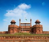 Travel India - The Red Fort (Lal Qila) Delhi - World Heritage Site. Delhi, India poster