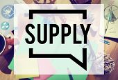 Supply Stock Marketing Logistic Distribution Business Concept poster
