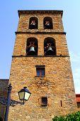Santa Cilia Jaca romanesque church belfry tower Huesca aragon spain poster