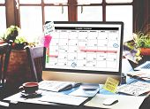 Calender Planner Organization Management Remind Concept poster
