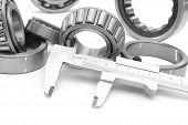 bearings measuring device diameters white background bearings tool isolated on white background poster
