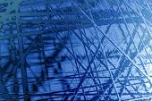 computer generate dillustration of abstract background with blue lines poster
