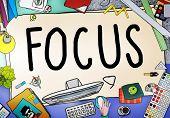 Focus Determine Center Concentrate Point Concept poster
