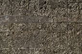 Photo of a part of a reinforced concrete wall poster