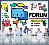 Forum Chat Message Discuss Talk Topic Concept poster