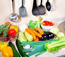 Fresh Vegetables On The Kitchen