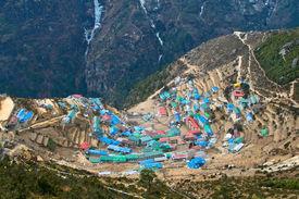 Sherpa village of Namche Bazar