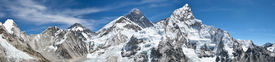 Mount Everest panoramic photo