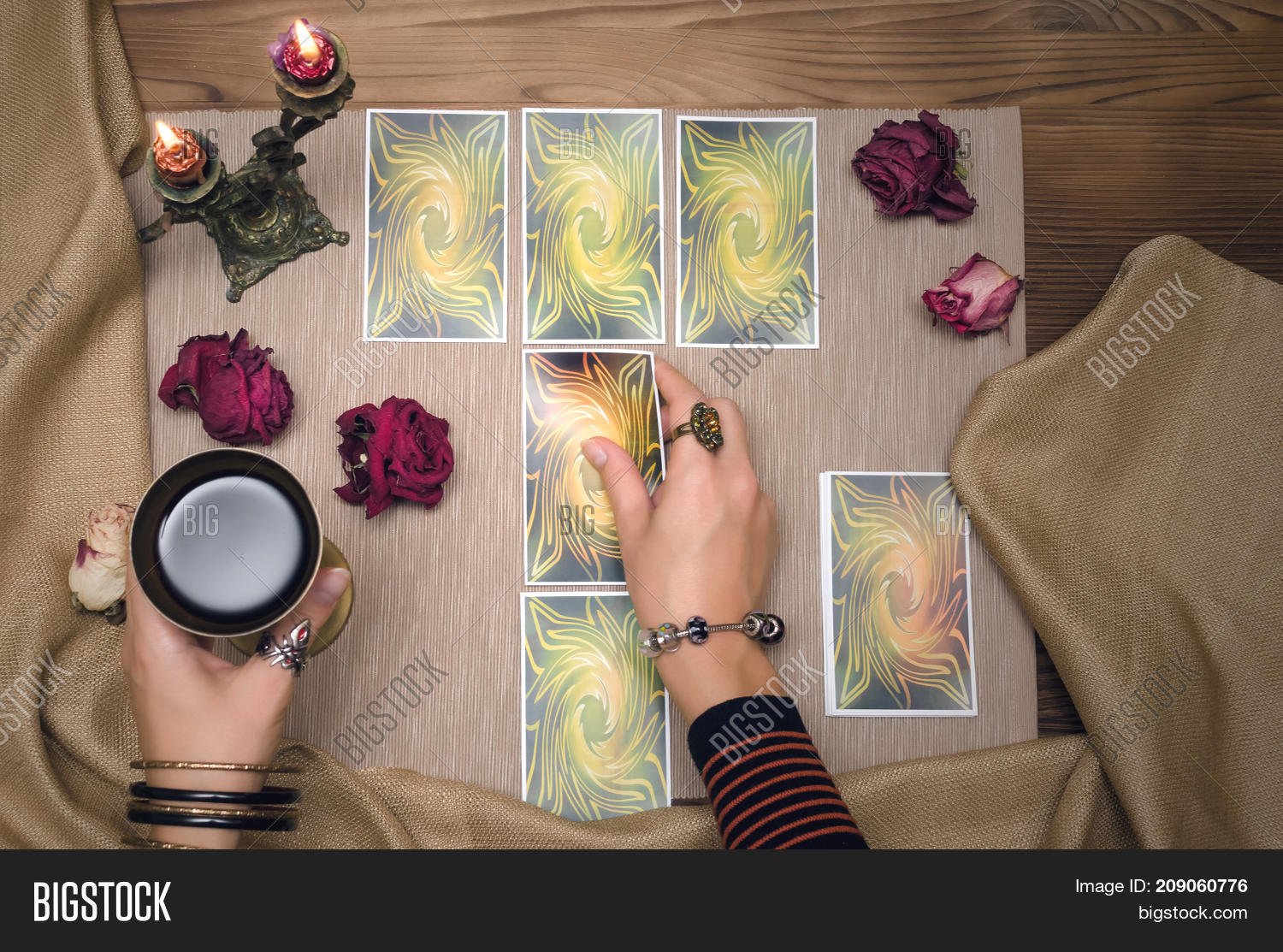 Tarot Cards On Wooden Image & Photo (Free Trial) | Bigstock