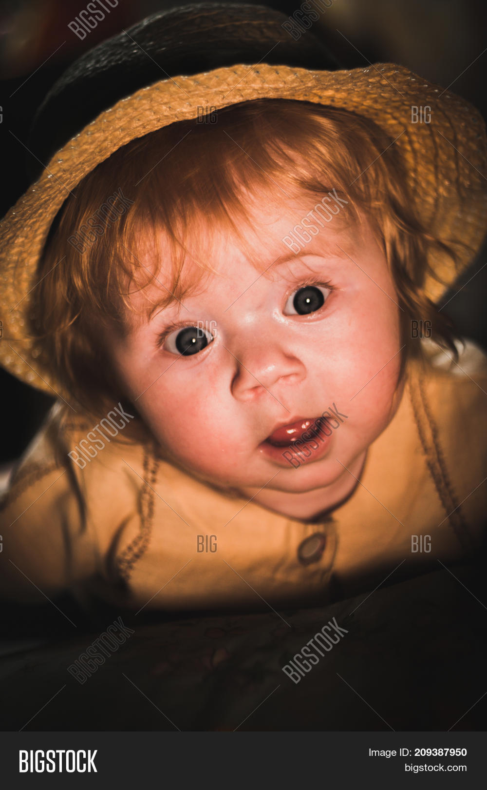 cute baby. sunlight on child's face image & photo | bigstock