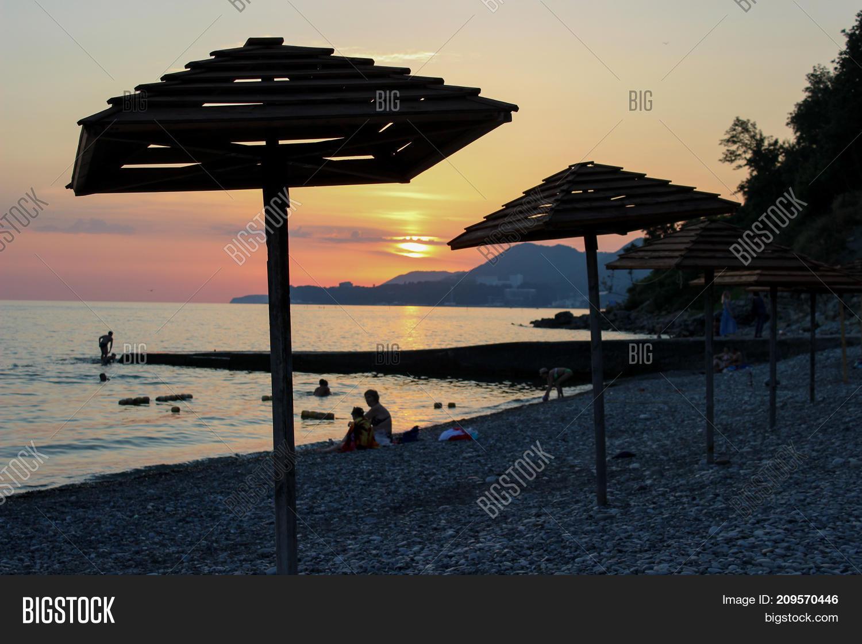 Two Beach Umbrella Image Photo Free