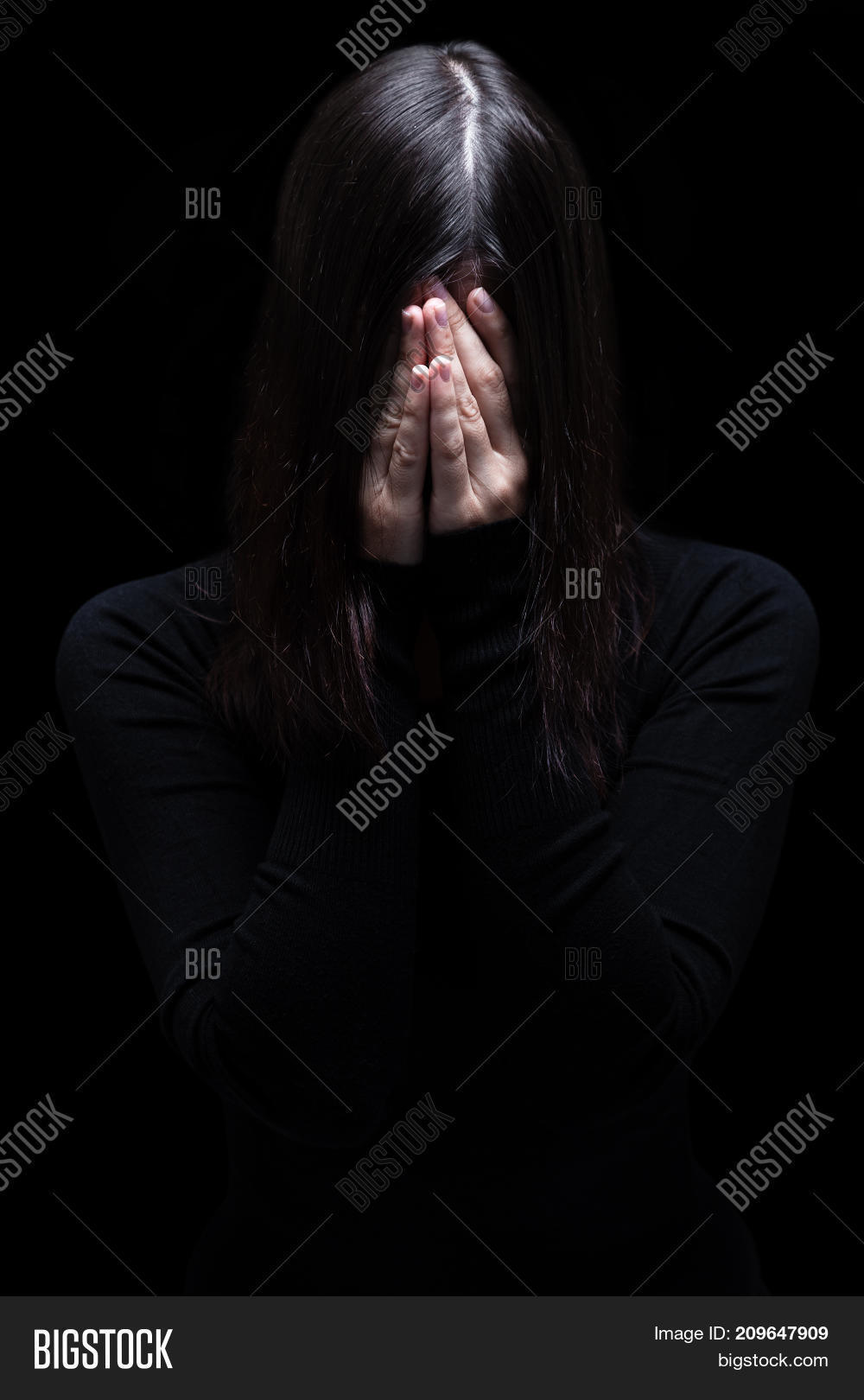 Emotional Woman Crying Image Photo Free Trial Bigstock