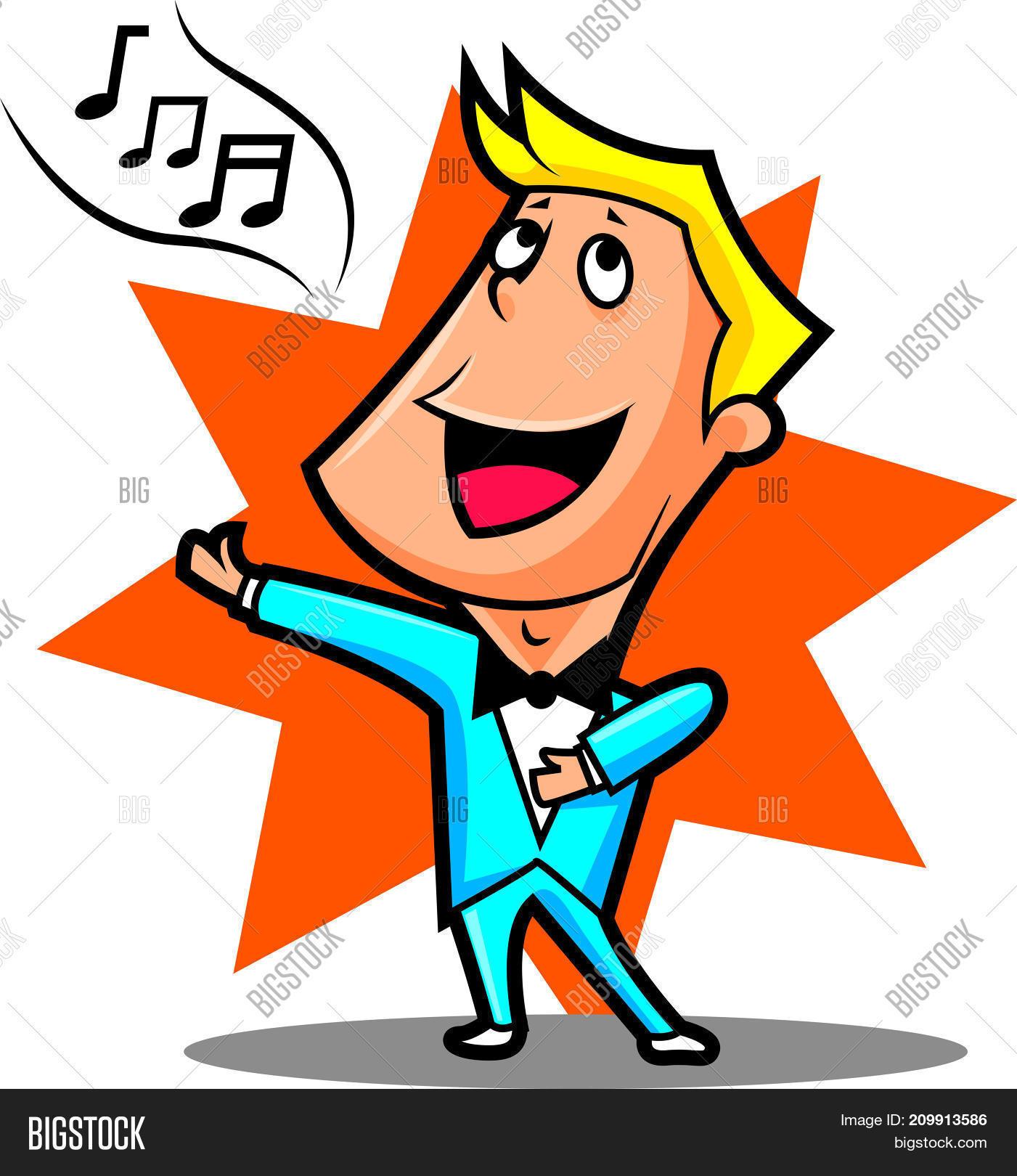 Cartoon Male Superstar Singer Vector & Photo | Bigstock