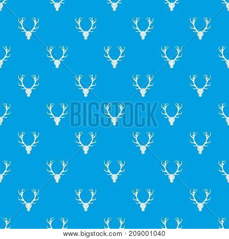 Deer antler pattern repeat seamless in blue color for any design. Vector geometric illustration