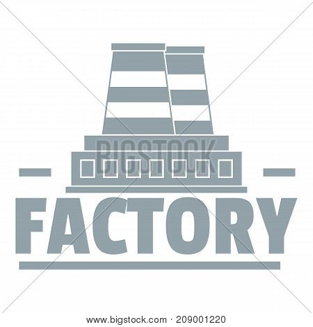 Factory logo. Simple illustration of factory vector logo for web