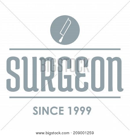 Surgeon logo. Gray monochrome illustration of surgeon vector logo for web
