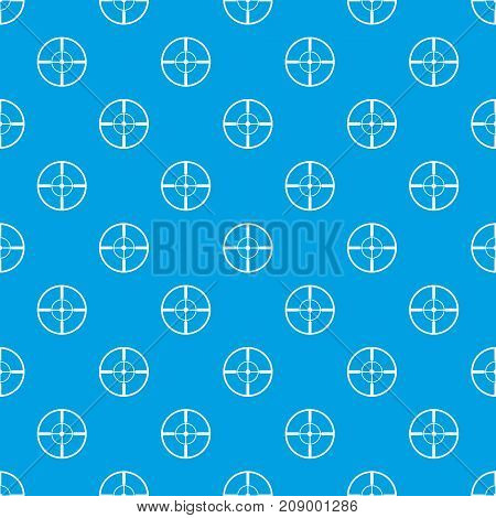 Aim pattern repeat seamless in blue color for any design. Vector geometric illustration
