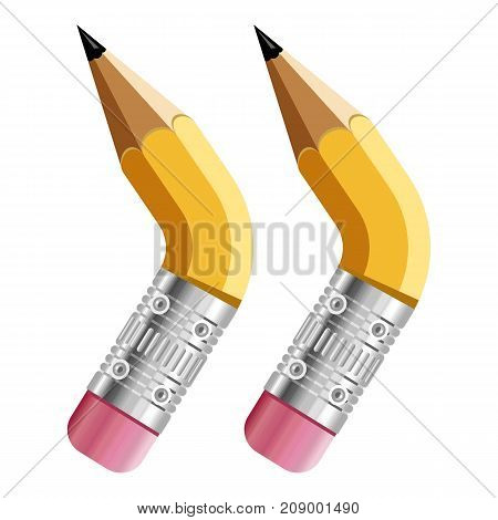 Sign quotation mark pencil icon. Cartoon illustration of sign quotation mark pencil vector icon for web