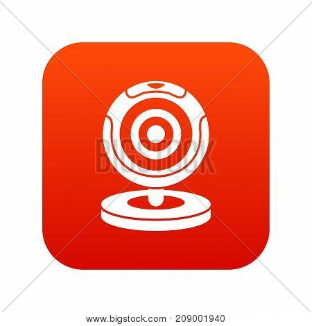 Webcam icon digital red for any design isolated on white vector illustration