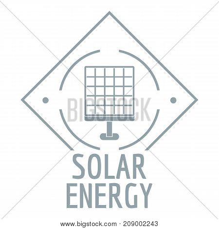 Solar energy logo. Simple illustration of solar energy vector logo for web