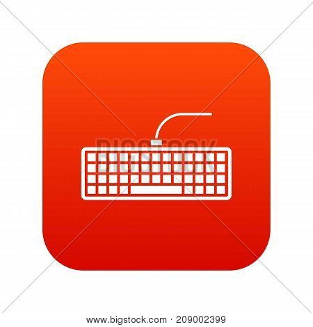 Black computer keyboard icon digital red for any design isolated on white vector illustration