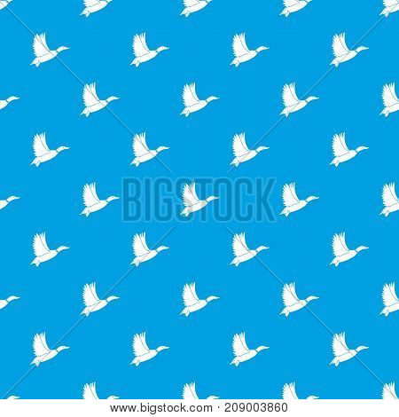 Duck pattern repeat seamless in blue color for any design. Vector geometric illustration