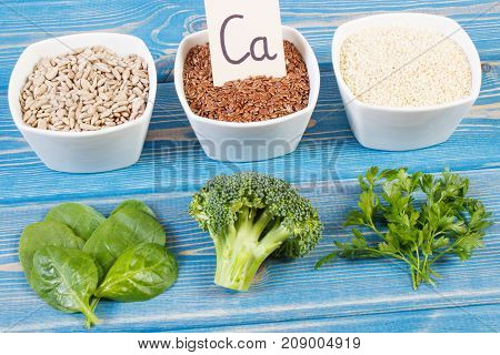 Ingredients Containing Calcium, Minerals And Dietary Fiber, Healthy Nutrition