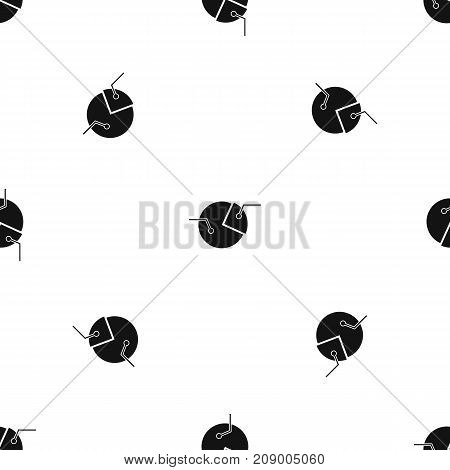 Percentage diagram pattern repeat seamless in black color for any design. Vector geometric illustration