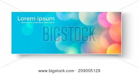 Vector illustration of banner with colorful abstract circles.