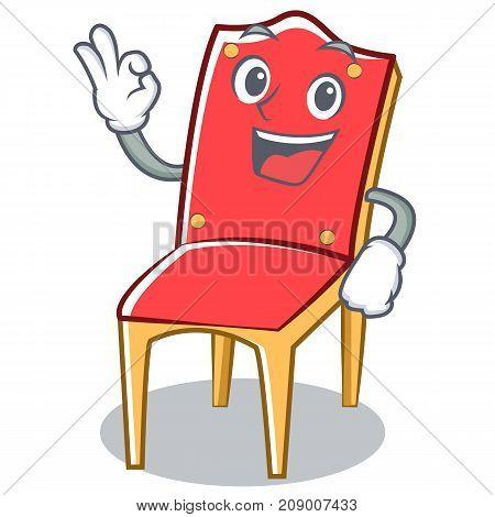 Okay chair character cartoon collection vector illustration