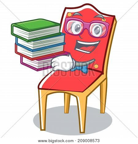 Geek chair character cartoon collection vector illustration