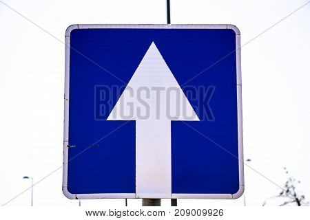 Road sign directly for transport without giving way