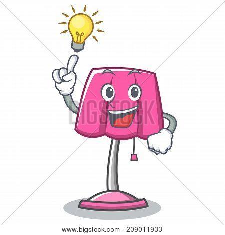 Have an idea furniture lamp character cartoon vector illustration