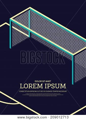 Abstract football soccer field poster background vector illustration